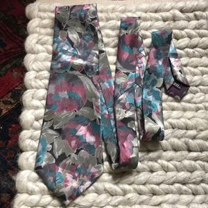 Vintage Accessories - Vintage Floral DON LOPER Beverly Hills Tie